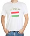 T-shirts met vlag Hongarije print